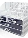 Sminkförvaring Makeup-låda / Sminkförvaring Plastic / Akrylfiber Enfärgat Others 24*15*18.6 Bisque