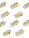 6W G4 LED-lampor med G-sockel T 72 SMD 3014 600 lm Varmvit / Kallvit Dekorativ DC 12 / AC 12 / AC 24 / DC 24 V 10 st