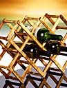 10 flaska faldig bänk vinställ gjord av 100% massivt trä, modern design för enkel fristående bords lagring