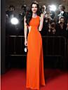 TS couture® официально платье вечера оболочкой / колонки высокой шеи длиной до пола шифон с бисером