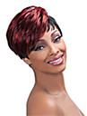 Perruque - Multicolore - Droit - en Fibre synthetique  - pour Femme