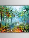 HANDMÅLAD Abstrakt / Landskap / fantasi / Abstrakta landskapEuropeisk Stil En panel Kanvas Hang målad oljemålning For Hem-dekoration