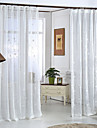 Two Panels Modern Floral Living Room Polyester Sheer Curtains Shades