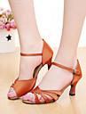 Chaussures de danse(Noir Marron Violet Rouge Autre) -Personnalisables-Talon Personnalise-Satin-Latine