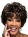 maskintillverkade kort peruk 00% människohår ingen spets brasilianskt hår människohår peruk vågigt hår peruk