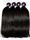 """3 st mycket 8 """"-28"""" peruanska jungfru hår raka naturligt svart människohår väva buntar skjul&trasselfria hårförlängningar"""