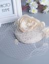 Bride\'s Lace Flower Veil Wedding Fascinators Hat Hair Jewelry