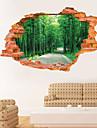 Botanique / Paysage Stickers muraux Stickers muraux 3D,PVC 60*90CM