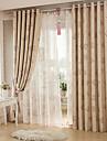 Två paneler Modern Blommig/Botanisk Röd Living Room Polyester Sheer gardiner Shades