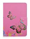 fjäril blommönster 7 tum tablettasken universal läder stand fallet täcker för 7 tums Tablet PC magnetiska luckan
