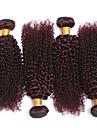 3 delar Lockigt Human Hair vävar Brasilianskt hår Human Hair vävar Lockigt