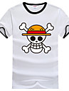 Inspire par One Piece Monkey D. Luffy Anime Costumes de cosplay Cosplay T-shirt Imprime Blanc Manche Courtes Manches Ajustees
