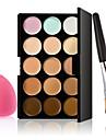 15 Correcteur/ContourHouppette/Eponge / Pinceaux de Maquillage Humide VisageCouverture / Blanchiment / Longue Duree / Correcteur /