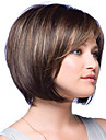 Woman\'s Vogue Brown With Highlights Straight Short Synthetic Wigs