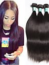 3pcs / lot 8-30inch brasilianska jungfru hår rakt 5a obearbetat brasiliansk människohår väva