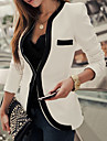 Blazer TS Normal Travail Manches Longues Rayonne / Polyester