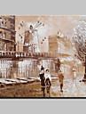 Peint a la main Abstrait / Celebre / Paysage / LoisirModern Un Panneau Toile Peinture a l\'huile Hang-peint For Decoration d\'interieur
