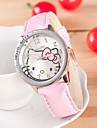 Enfant Montre Tendance Quartz Cuir Bande Dessin-Anime Noir Blanc Bleu Rouge Orange Rose Rouge Rose Orange Fuchsia Rouge Bleu Rose