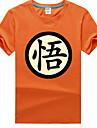 Inspirerad av Dragon Ball saiyan Animé Cosplay-kostymer Cosplay T-shirt Tryck Svart Kort ärm T-shirt För Unisex