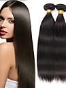 de haute qualite 3Bundles 150g cheveux peruvian armure cheveu humain droite naturel noir tisse