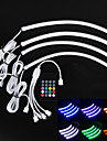 bil inomhus ljud aktiverad flexibel multi ljus bil dekoration lampa med styrenhet (12V)