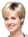 cheveux ombre perruque femmes belle blonde naturelle perruque courte ligne droite avec des racines sombres cheveux synthetiques perruques