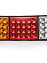 par lampa, 36led bakljus 3 färger DC24V för bil lastbil regnrock