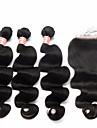 Trame cheveux avec fermeture Cheveux Mongoliens Ondulation naturelle 12 mois 4 Pieces tissages de cheveux