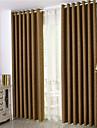 Deux Panneaux Le traitement de fenetre Europeen / Moderne / Rustique / Neoclassique , Solide Chambre a coucher Polyester MaterielRideaux