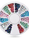 Vackert-Finger-Nagelsmycken- avAkryl-1wheel colorful ab nail decorations- styck6cm wheel- cm