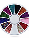 Vackert-Finger-Nagelsmycken- avAkryl-1whee caviar beads nail decorations- styck6cm wheel- cm