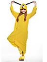 Kigurumi Pyjamas nya Cosplay® Dog Trikå/Onesie Festival/högtid Pyjamas med djur halloween Gul Lappverk Polär Ull Kigurumi För Unisex