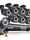 zosi® 8CH AHD 720p CCTV DVR + 8pcs 720p 1.0mp AHD 100ft noapte viziune sistem de securitate în aer liber rezistent la intemperii