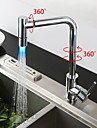 Contemporary Kitchen faucet LED Chrome Shower Kitchen Faucet