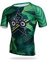 XINTOWN® Cykeltröja Herr Kort ärm Cykel Andningsfunktion Snabb tork UV-Resistent Kompression Lättviktsmaterial T-shirt ÖverdelarElastan