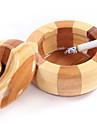 äpple form bambu sval askkopp rundvirke rökfri cigarr askkopp heminredning hantverk