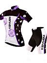 KEIYUEM® Maillot et Cuissard de Cyclisme Unisexe Manches courtes VeloEtanche / Respirable / Sechage rapide / Pare-vent / Isole /