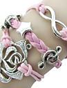 Armbånd Wrap Armbånd Legering / Læder Daglig / Afslappet Smykker Gave Pink,1pc