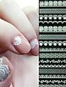 Abstrakt / Bröllop-Finger-3D Nagelstickers- avAndra-6- styck10X7X0.7- cm