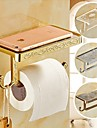 Porte Papier Toilette / Crochet a Peignoir,Contemporain Bronze Antique Fixation Murale