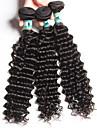 """1 st / lot 12 """"-26"""" 5a malaysiska jungfru hår vinkar djupt mänskligt hårwefts 100% obearbetat malaysiska remy hår väver"""