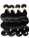 """3 st mycket 8 """"-28"""" malaysiska jungfru hår vågigt vågiga naturligt svart människohår väva buntar trasselfri hårförlängningar"""