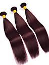 3 delar Ret Human Hair vävar Brasilianskt hår Human Hair vävar Ret