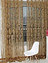 En panel Rustik Blommig/Botanisk Enligt bilden Living Room Polyester Sheer gardiner Shades