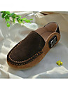 Garcon-Exterieure Decontracte-Bleu Marron Jaune Vert Brun Clair Marine-Talon Plat-Moccasin-Chaussures Bateau-Daim