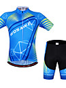 WOSAWE Cycling Jersey with Shorts Unisex Short Sleeve Bike Sleeves Jersey Shorts Clothing SuitsQuick Dry Anatomic Design Breathable 3D