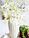 silke liten cattleya konstgjorda blommor flerfärgad tillval 1st / set