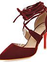 Svart Röd Beige-Stilettklack-Dam-D\'Orsay och tvådelad-Konstläder-Kontor Formellt Fest/afton