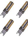 5W G9 LED-lampa T 104 SMD 3014 450-550 lm Varmvit / Kallvit Dekorativ AC 110-130 V 4 st