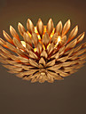 Europe Retro  Flowers Ceiling Light  Wrought Iron Ceiling Lamp Living Room